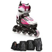 5th Element G2-100 Adjustable Girls Skates With Pads Girls Inline Skates